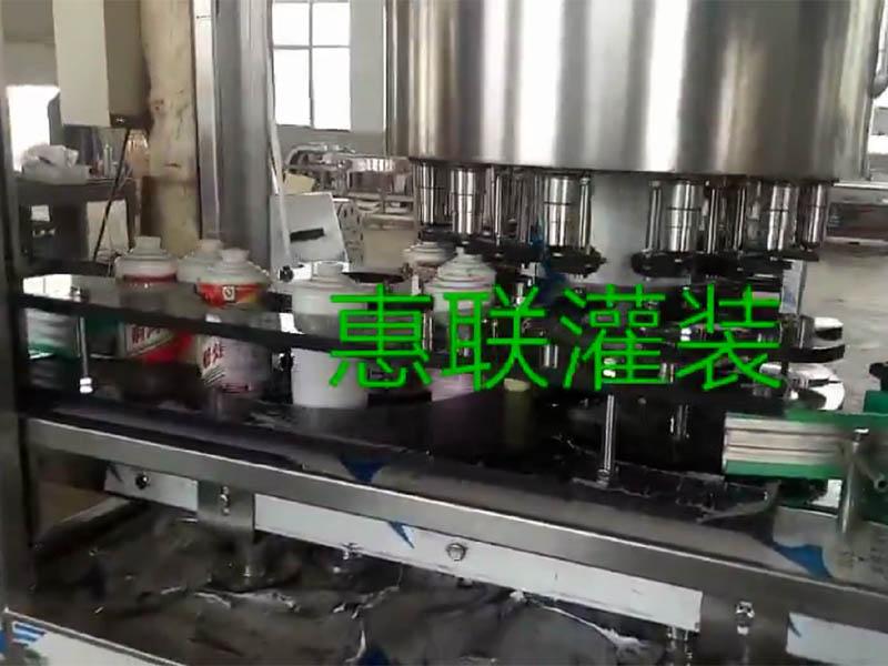 mao台jiu自动灌装流shui线试机